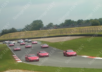 Manifestation de Ferrari, 19e édition au Vigeant