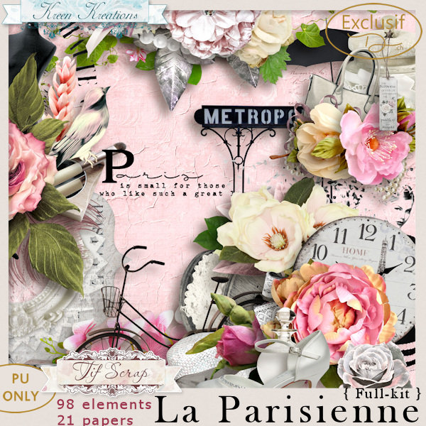 La Parisienne { Full Kit } by TifScrap & Kreen Kreations