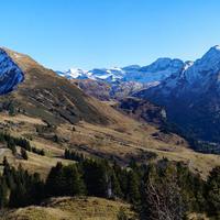 Depuis les Dents du Midi jusqu'au Mont-Blanc, panorama depuis la Tête de Lindaret - Novembre 2015