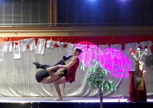 Un joli spectacle de cirque donné au cours des Lauriers du sport 2013