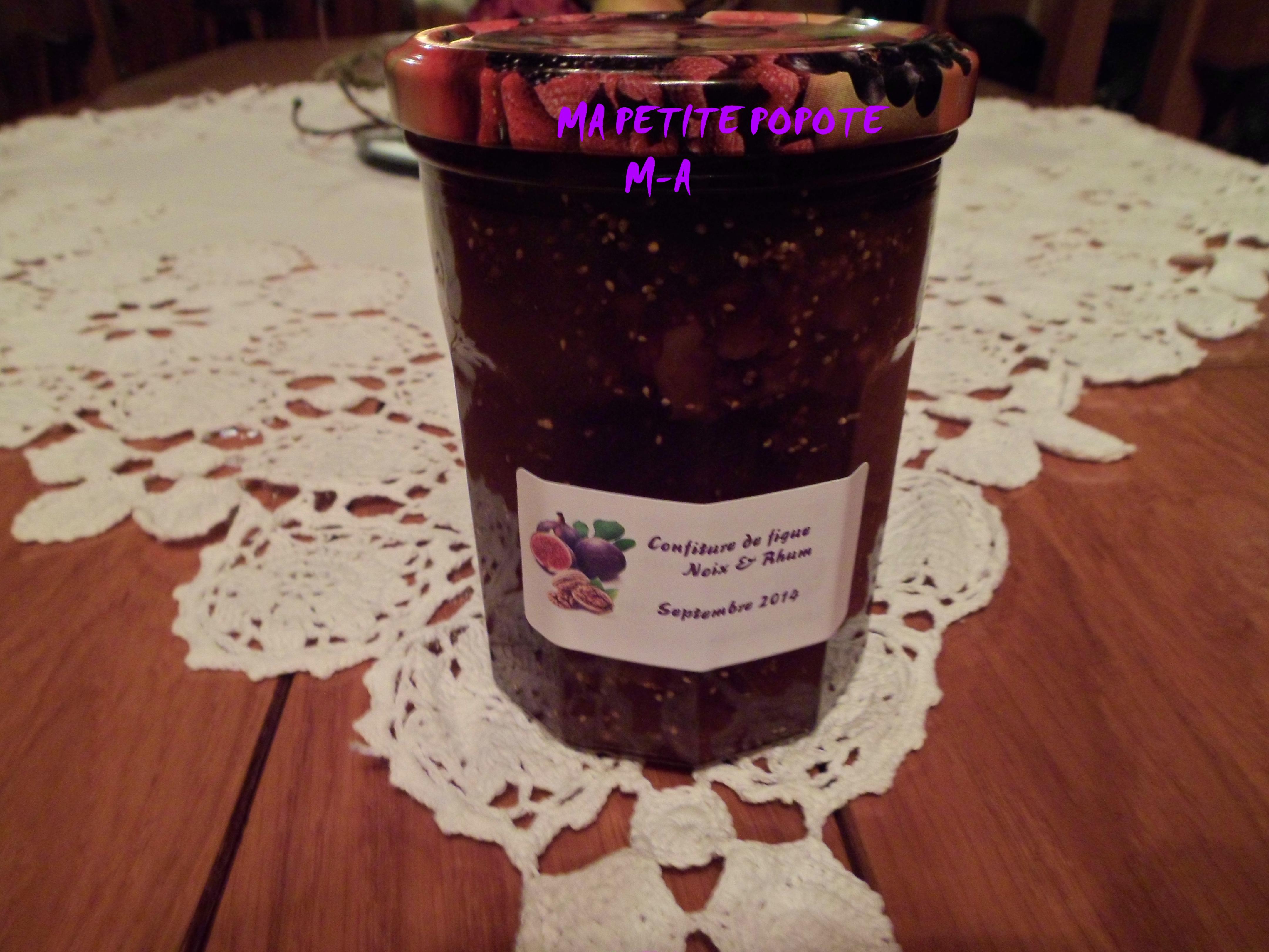 confiture de figues noix rhum