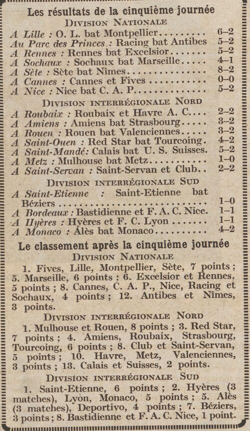 R.C.Calais 3 octobre 1933