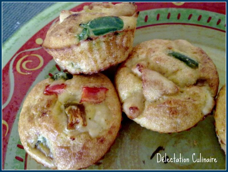 Muffins poulet, poivrons et curry