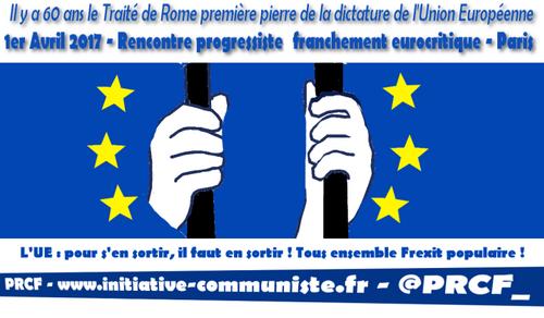 60e anniversaire du Traité de Rome : Rencontre progressiste franchement euro-critique ! (IC.fr-)