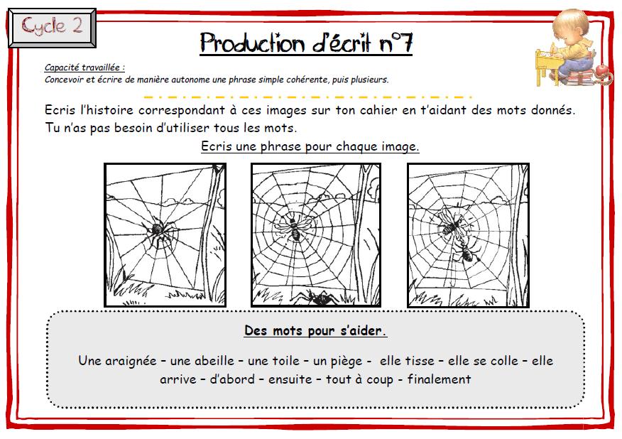 Souvent Production écrits CE1 - l'école de Lilai PV25