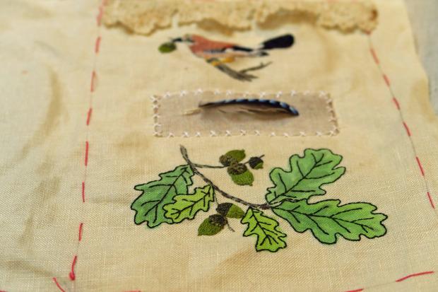 Carnet textile - Récolte sous les chênes