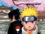naruto et sasuke sous un arbre