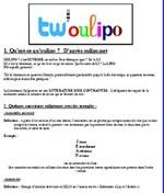Faire de l'OULIPO via Twitter !