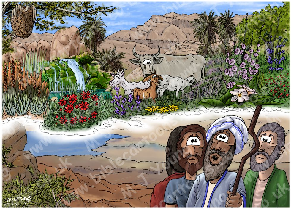 Deuteronomy 34 - Death of Moses - Scene 01 - Promised land