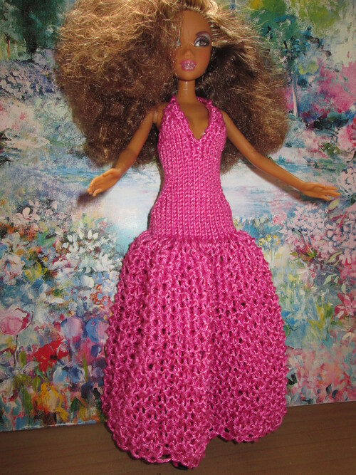 Robe de princesse pour barbie