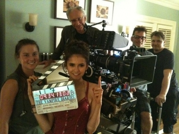 photo tournage vampire diaries saison 3