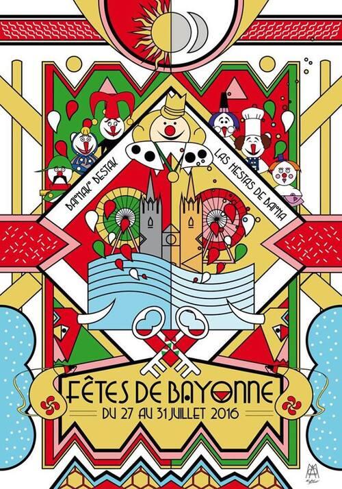 affiche #1 des fêtes de Bayonne 2016