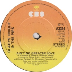 Gladys Knight & The Pips - Ain't No Greater Love