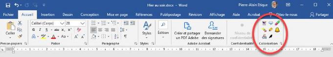Coloriƨation : adaptation de textes pour dyslexiques (extension pour Word et Power Point)