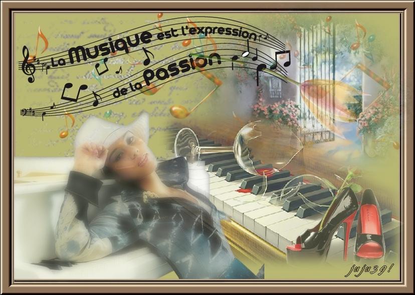 La Magie de l'amitié Galerie défi musique et joli cadre de Manola !
