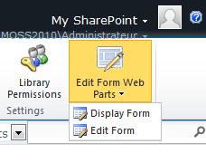 Edit Form WebParts MOSS 2010