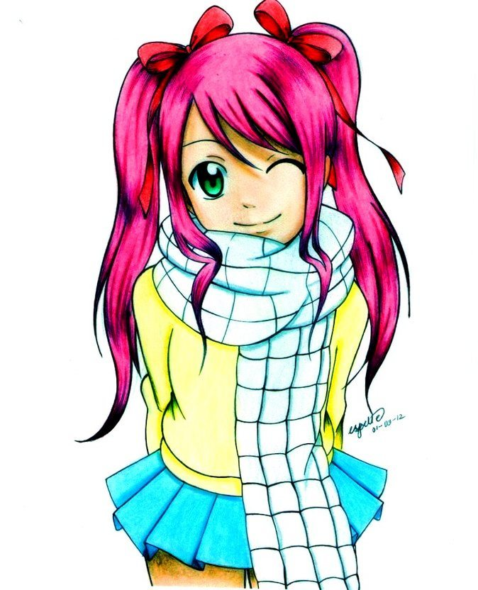 La fille de natsu et lucy fairy tail nalu - Fille fairy tail ...