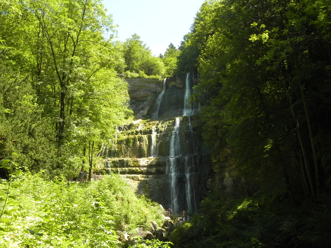 L'Eventail de la cascade du Hérisson