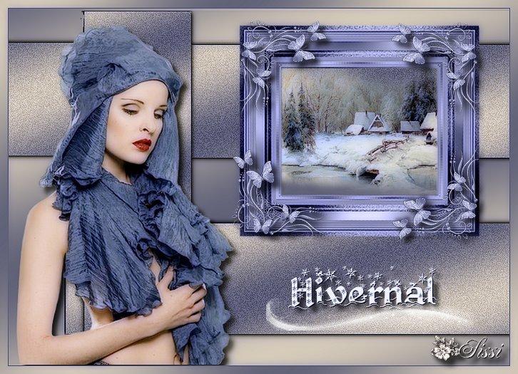 * Hivernale *   D'après le tuto de Luna Bella .