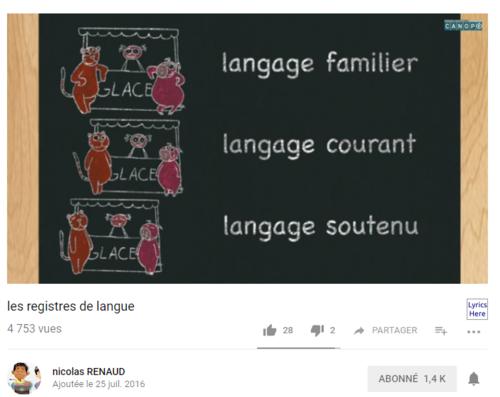 Vocabulaire en cycle 3 avec les vidéos CANOPE