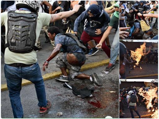 Le jeune Orlando aspergé d'essence et brûlé vif dans le quartier chic d'Altamira.