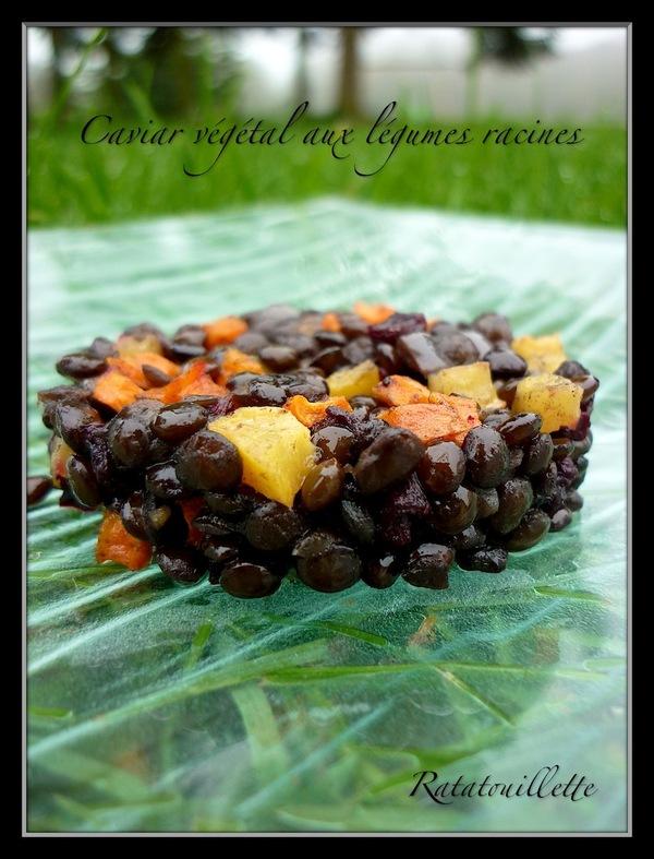 Caviar végétal aux légumes racines