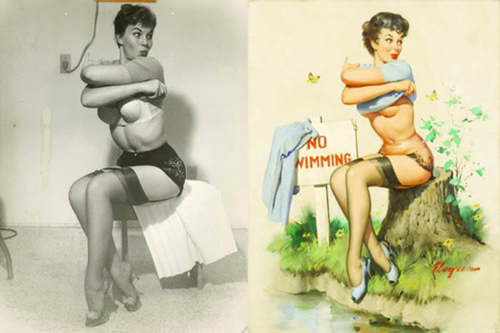 Pin ups : de la photo à l'illustration