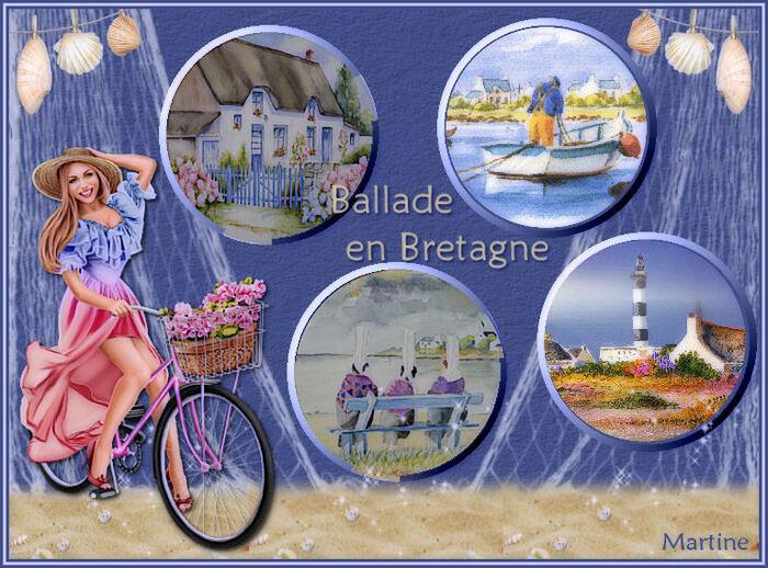 """Défi Nathie  """"A bicyclette""""."""