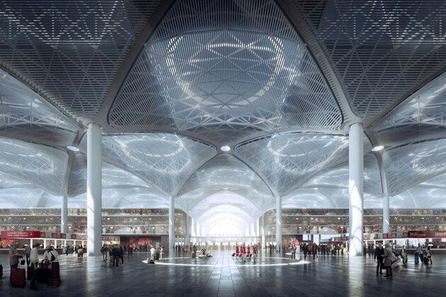 Istanbul : le chantier du plus grand aéroport du monde