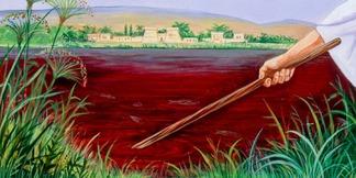 L'eau du Nil est changée en sang: première plaie