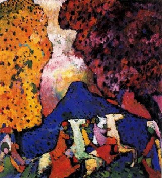 Wassily Kandinsky, La Montagne Bleue, 1908-1909
