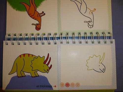 Je dessine un tricératops
