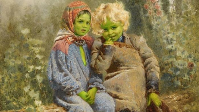 L'énigme Des Enfants À La Peau Verte, L'énigme Des Enfants Verts...
