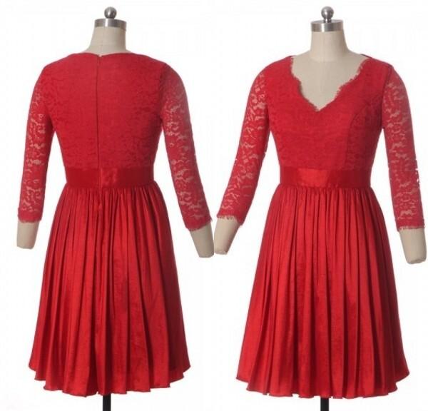 test de produit robe rouge dentelle dramatique
