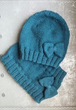 Bonnet et tour de cou pour bébé