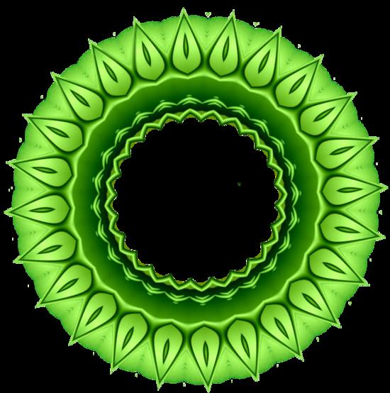 Cadres forme fleur série 5, vert
