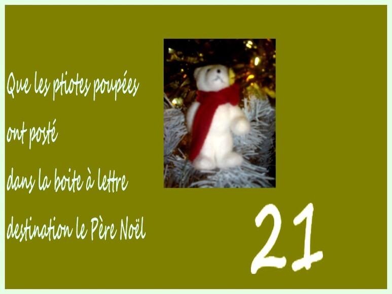 21ème jour, pour l'Avent de Noël