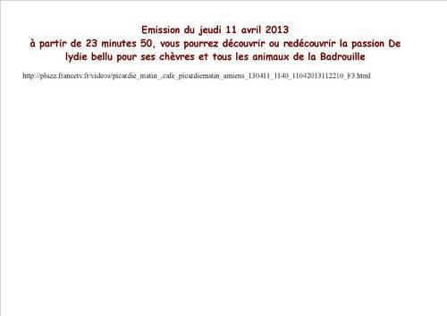 Reportage sur La badrouille avec Lydie Bellu