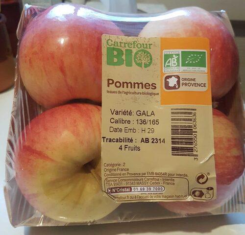 Pommes biologiques : et le plastique ?