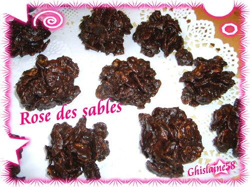 Rose des sables (chocolat noir)