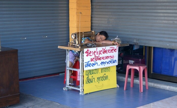 Photos de Thaïlande_20.  Dormir n'importe où.