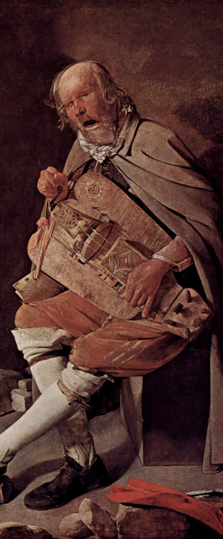 G. de La Tour, Le Vielleur, vers 1631-1636, Nantes.