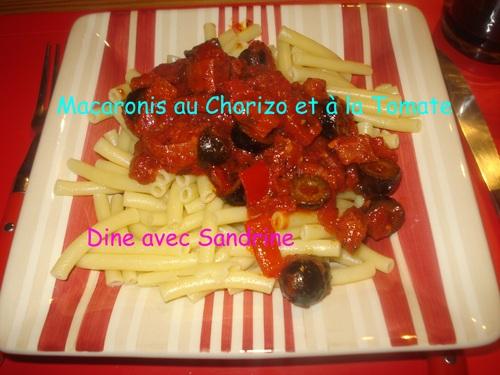 Mes Pâtes au Chorizo et Tomates
