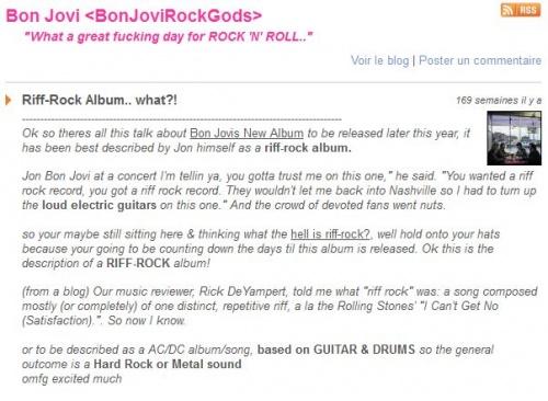 jon bon jovi annonce que l'album 2013 sera rock riff