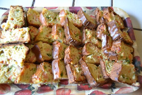 Cake aux crevettes/poivrons