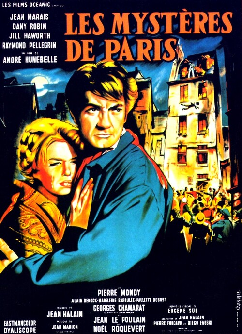 LES MYSTERES DE PARIS - BOX OFFICE JEAN MARAIS 1962
