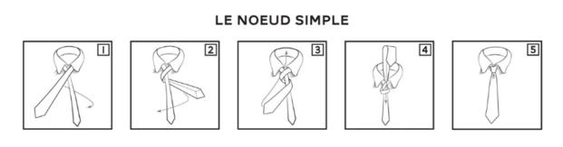 comment faire un noeu simple de cravate