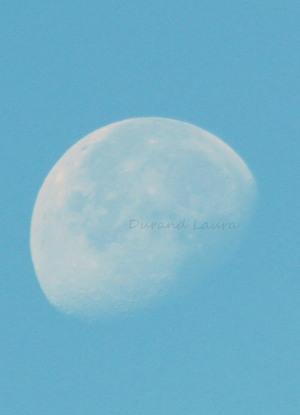 Lune en pleine journée du 6 Juillet 2015