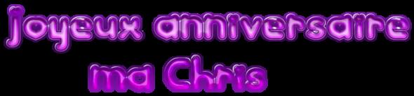 JOYEUX ANNIVERSAIRE CHRISTIANE