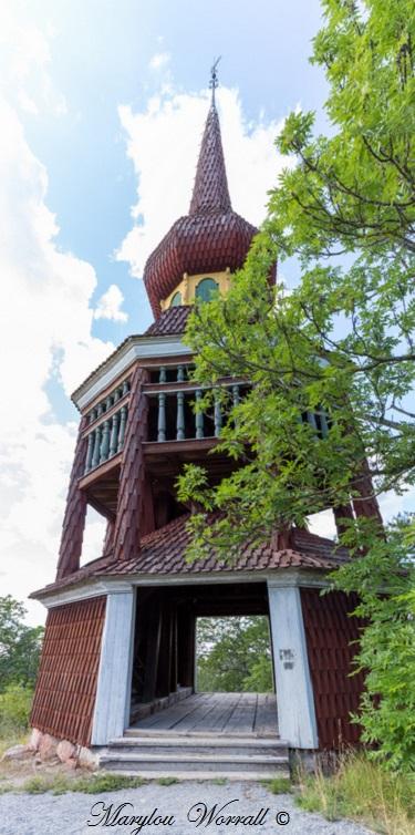 Suède : Écomusée Skansen Beffroi, Château d'eau, Halle, ferme Ekshärad, manoir de Skogaholm